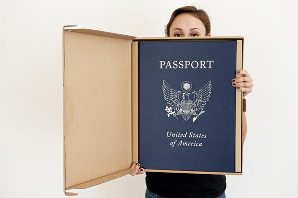 Above: Passport book