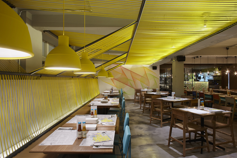 Wahaca Waterloo restaurant installation