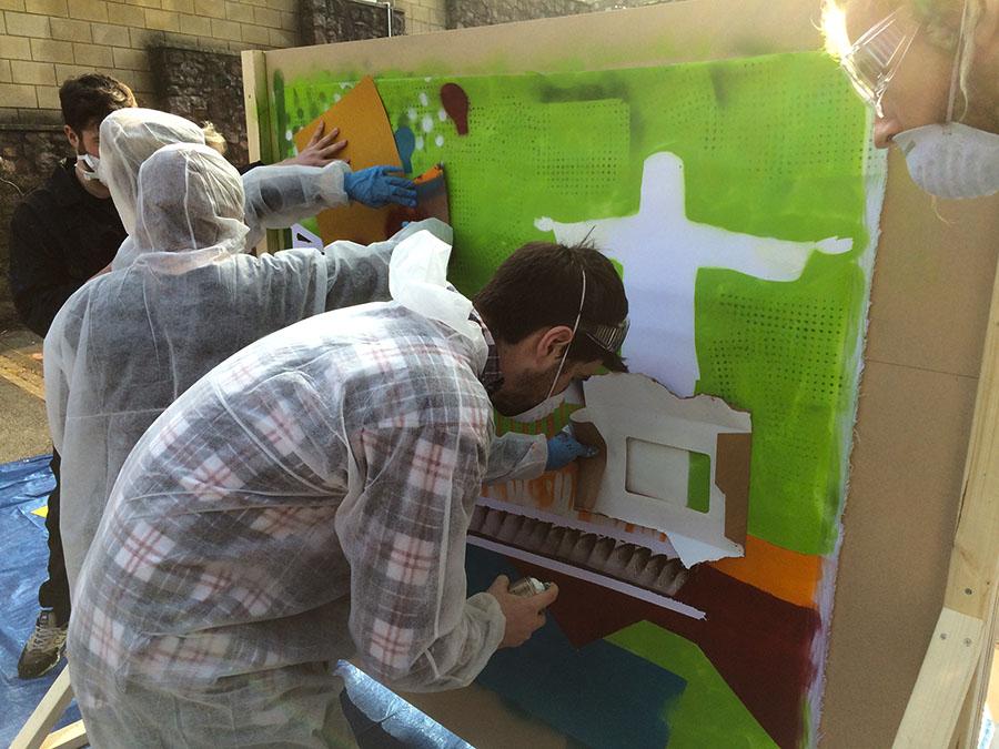 Stencil workshop lead and facilitator for University of Bristol
