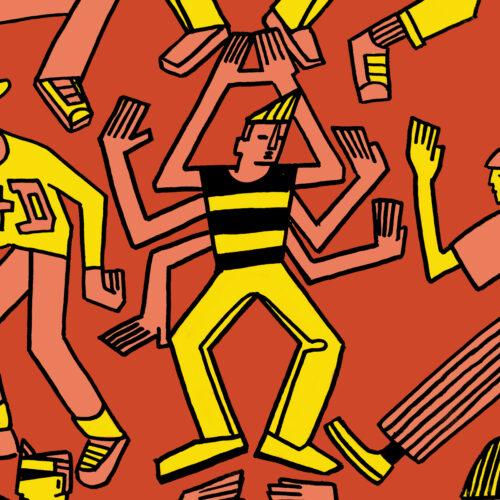 80s Dancers illustration