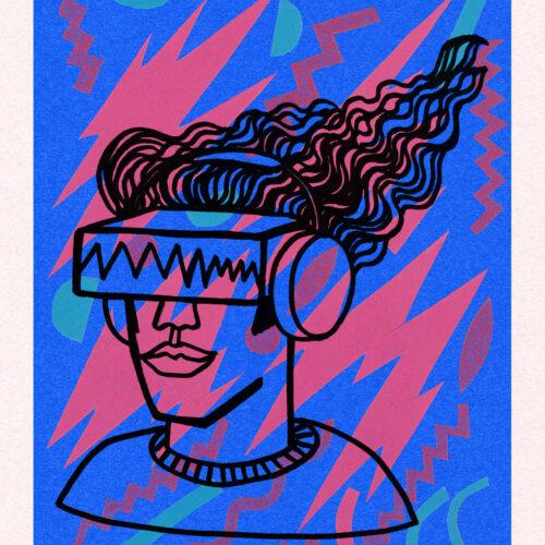 MTV VR Headphone Guy Illustration