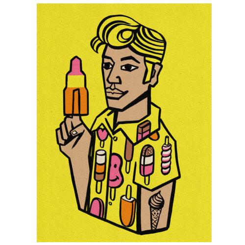 Popsicle Guy Illustration